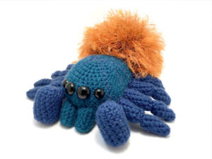 Amigurumi Tarantula - Green Bottle Blue - Chromatopelma cyaneopubescens