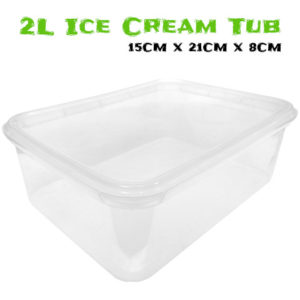 Clear 2 Litre Ice Cream Tub For Juvenile Tarantulas