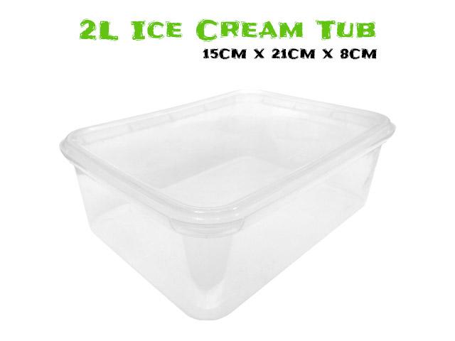 2 Litre Ice Cream Tub For Farantulas.