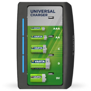 Varta Universal Rechargeable Battery Charger - AA, AAA, C, D, 9V